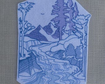 Wild iron on patch  Iron on Patch Patches for jackets Wild Stream