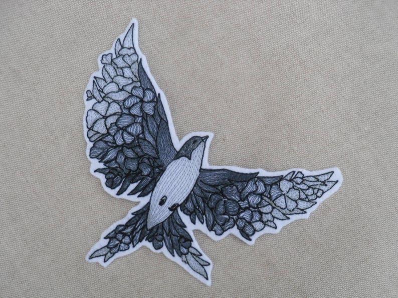 Floreale rondine uccello su ferro swallow applique patch per etsy