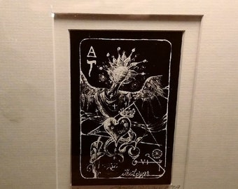 TAROT CARD matted mounted and ready to frame.