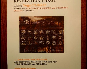 REVELATION TAROT the workbook,  including Chakras, Gates and Guardians and Nature's Oracles
