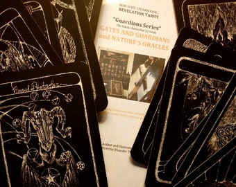 Gates and Guardians - the new 13 cards which attach to the Revelation Tarot.  They can be used alone or with the major deck