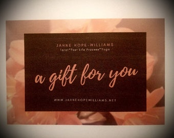 TAROT VOUCHER - a gift voucher for three card tarot reading on line or in person.