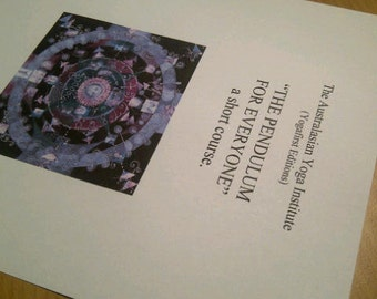 PENDULUM KIT: Course, Chart and  Pendulum for beginners. Dowsing, oracle, clairvoyant, fortune-teller, occult, consultant, astrology, tarot