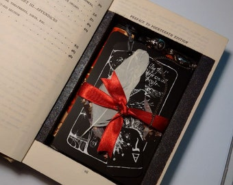 THE SECRET TAROT Secret compartment in vintage book which holds the tarot and other divination tools