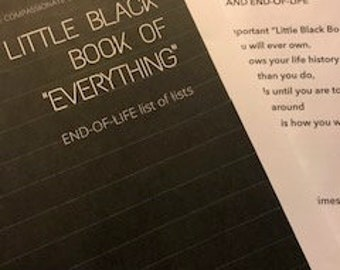 The Little Black Book of Everything.  All the numbers and contacts of your life in one place