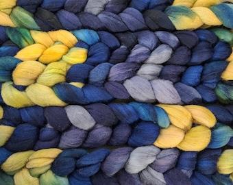 19 Micron Hand-Dyed Merino Top / Roving - 4oz. Braid.