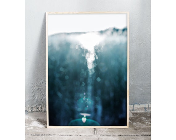 Abstract photography art print of an icy lake inte the winter. Print is printed on a high quality, matte paper.