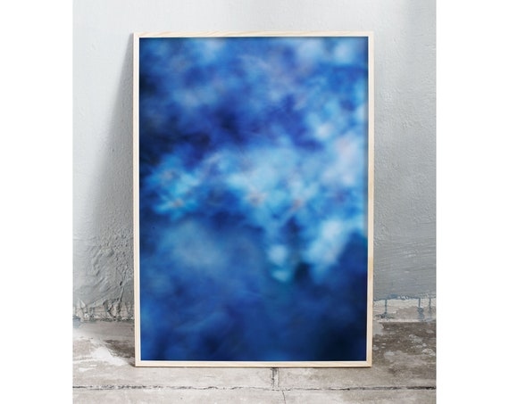 Photography art print of the blue flower forget-me-not. Art print is printed on a high quality, matte paper.