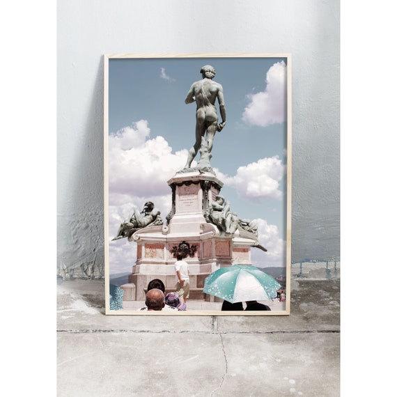 Photography art print of a statue in Florence, Italy. Printed on high quality, matte paper.