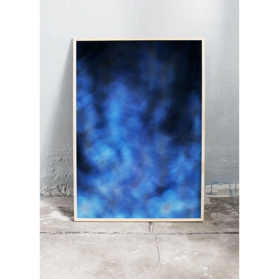 Abstract photography art print of the blue flower forget-me-not. Print is printed on a high quality, matte paper.