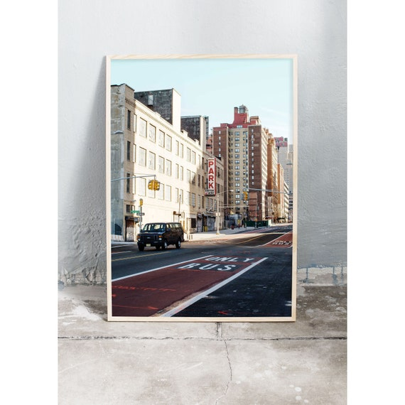 Photography art print on the streets of N.Y.C. Print is printed on a high quality, matte paper.