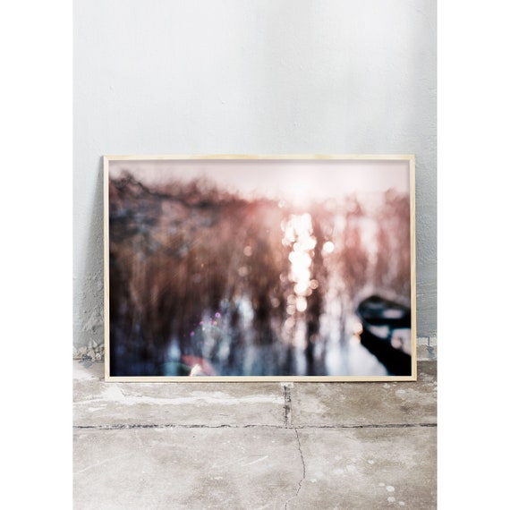 Photography art print of nature around a lake. Print is printed on a high quality, matte paper.