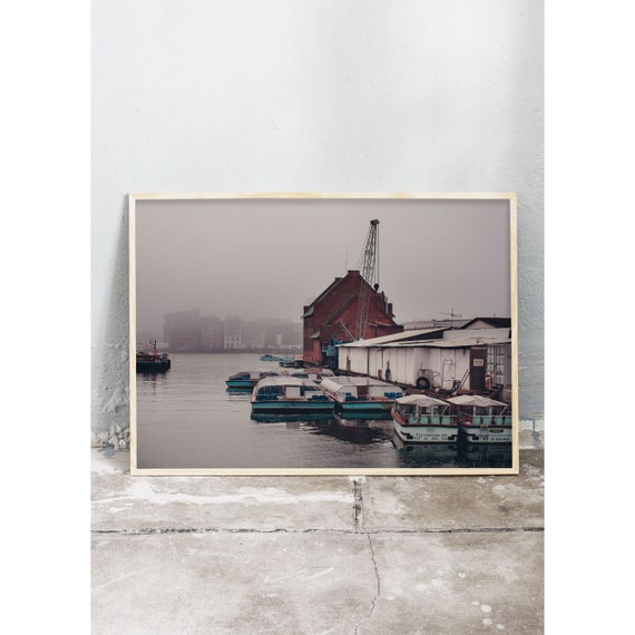 Photography print from a misty morning in Christianshavn,  Copenhagen , Denmark.