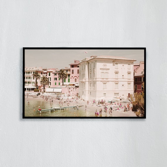 Frame TV Art, Digital downloadable art photography, Art photo of the beach in Sestri Levante, Italy, Art for digital TV
