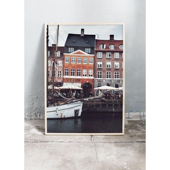 Photography Print, Copenhagen, Nyhavn, Art Print, Buildings , Wall Art, Art, Photography, Print, Happy, Art, Copenhagen