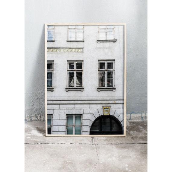 Photography print of gray, old building in Copenhagen , Denmark.