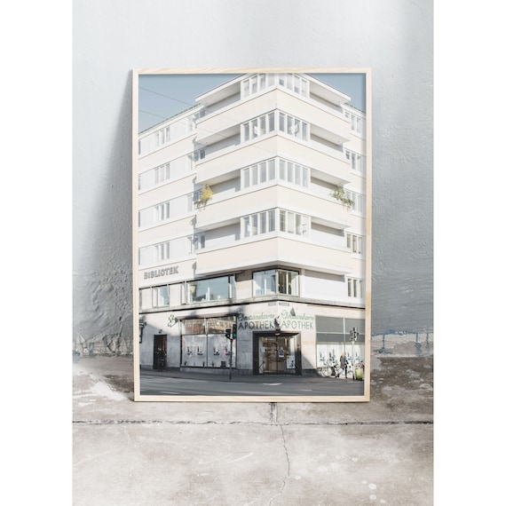 Photography art print of white building in Copenhagen. Photo is printed on a high quality, matte paper.