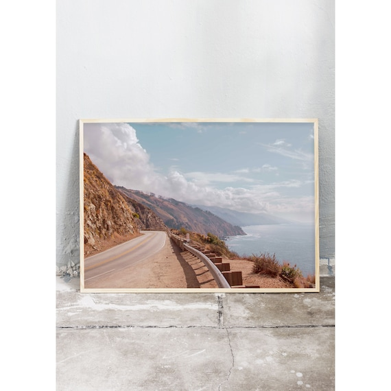 Photography art print from highway 1 in California by the Pacific ocean. Print is printed on a high quality, matte paper.