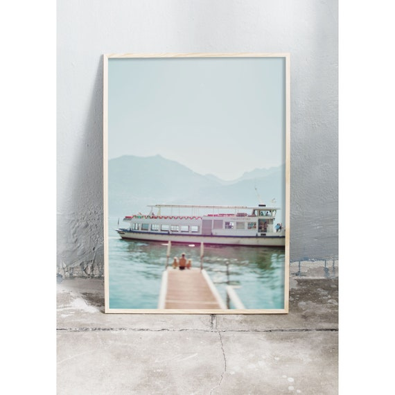 Photography Print, Art, Lago di Como, Italy, Wall Art, Ocean, Turquoise, Colorful Print, Italy Wall Art, Art Print, Art,