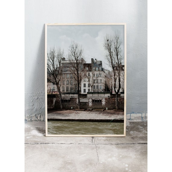 Photography art print of buildings in Paris. Print is printed on a high quality, matte paper.