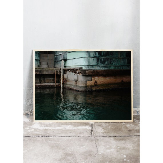 Photography print of photo from under a bridge in Copenhagen , Denmark.