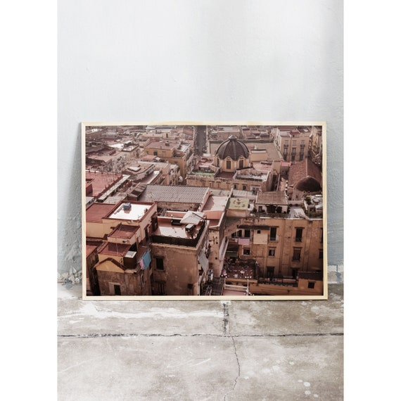 Photography art print of a photo taken from above Naples in Italy. Printed on high quality, matte paper.