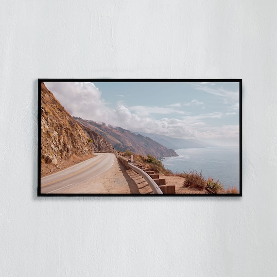 Frame TV Art, Digital downloadable art photography, Art photo of the Californian coastline, Art for digital TV