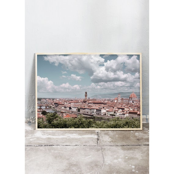 Photography art print of a view of Florence, Italy. Printed on high quality, matte paper.