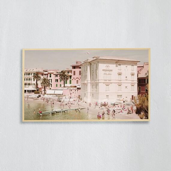 Frame TV Art, Digital downloadable art photography, Art photo of the beach in Sestri Levante, Italy, Art for digital TV