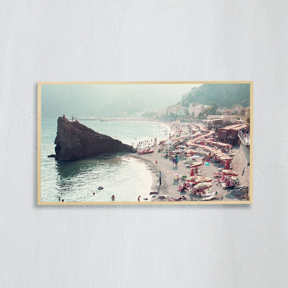Frame TV Art, Digital downloadable art photography, Art photo of the beach in Cinque Terre, Italy, Art for digital TV