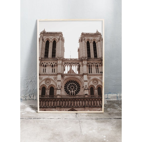 Photography art print of the cathedral Notre Dame in Paris. Print is printed on a high quality, matte paper.