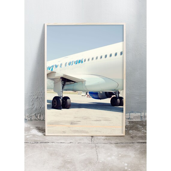 Art photography print of an airplane in Greece. Art print printed on a matte, high quality paper.