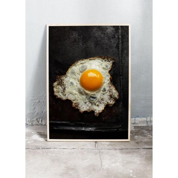Photography Print, Food Art Print, Decorative Wall Art, Egg, Egg Yolk, Fine Art Print, Yellow, Interior Decor, Kitchen Art, Print