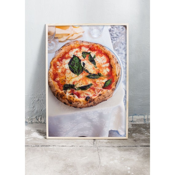Photography art print of a pizza in Naples, Italy. Printed on high quality, matte paper.