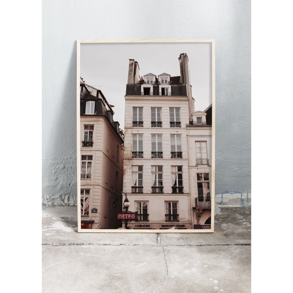 Photography art print of building in Paris. Print is printed on a high quality, matte paper.