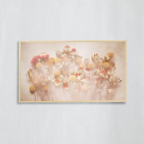 Frame TV Art, Digital downloadable art photography, Art photo of a dried flowers bouquet, Art for digital TV
