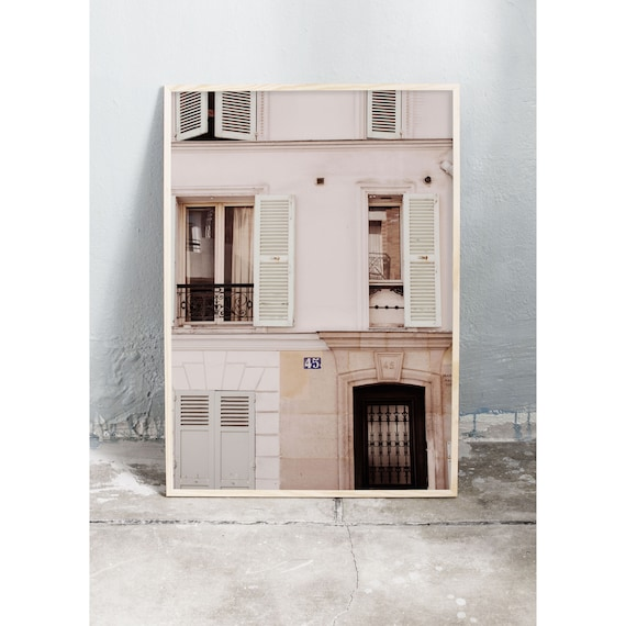 Photography art print of building in Montmartre, Paris. Print is printed on a high quality, matte paper.