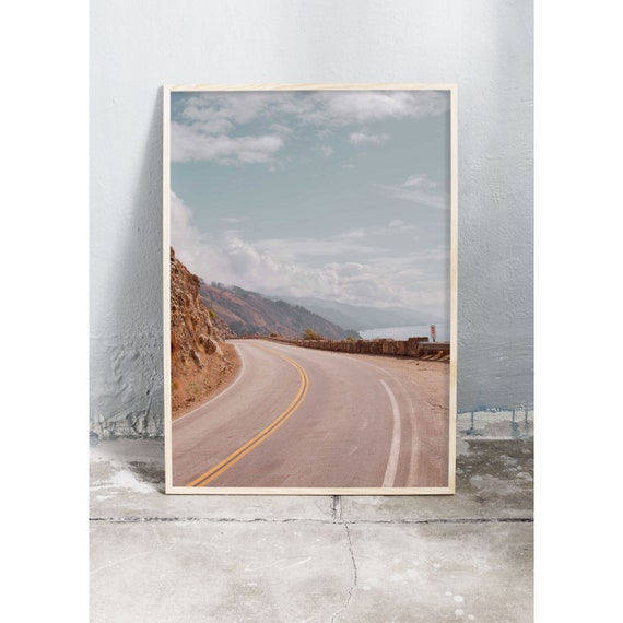 Photography art print from California's highway 1 by the Pacific ocean. Print is printed on a high quality, matte paper.