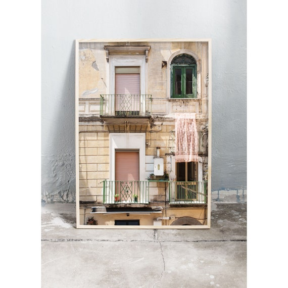Photography art print of building in Italy. Printed on high quality, matte paper.
