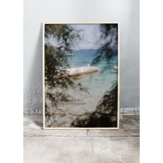 Art photography print of the ocean in Croatia. Printed on a matte high quality paper.