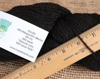 Yarn - Black 90/10 Alpaca/Merino Blend