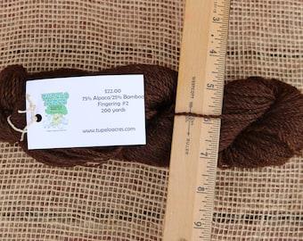 Yarn - Deep Brown 75/25 Alpaca Bamboo Blend
