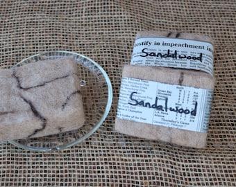 Felted Goat Milk Soap - Sandalwood