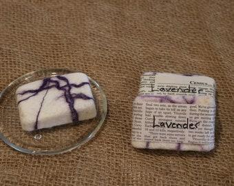 All Natural Felted Soap - Lavender
