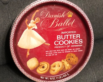 0321a1bad1c5 Kitsch Vintage Danish Butter Cookies Denmark Tin