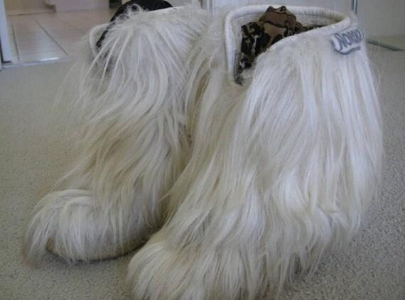 Wo    Vintage des années 70 6 US Nordica Blonde Tan chèvre cheveux Yeti après-ski bottes   Les Produits De Base Sont  5e0159