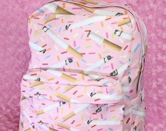 Cigarette and Sprinkles Backpack