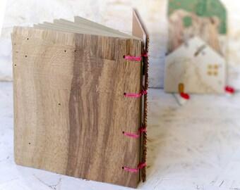 Wooden Book , Rustic Journal , Wedding Sign In Book , Sketchbook , Blank Journal , Recipe Book ,Walnut  Notebook , Cabin Guest Book