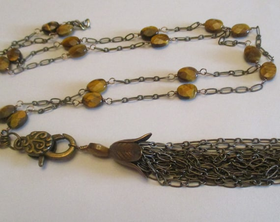 Tiger Eye Lanyard With Detachable Tassel L6151756