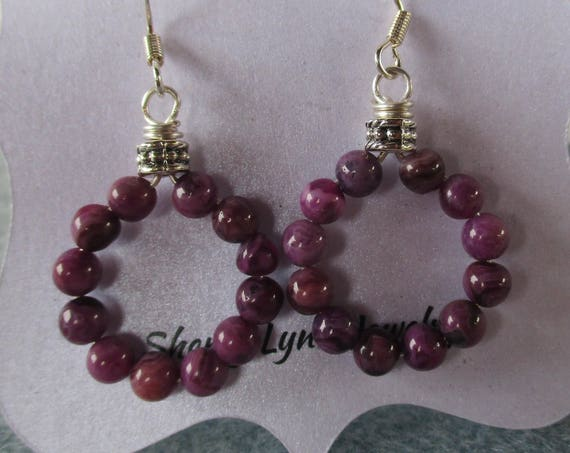 Sugilite Hoop Earrings  E1025172
